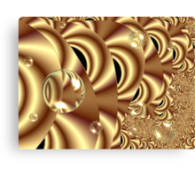 Golden Bubble Highway Canvas Print