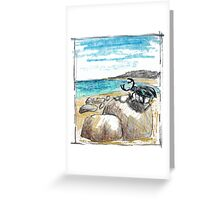 BEETLE ON THE BEACH Greeting Card