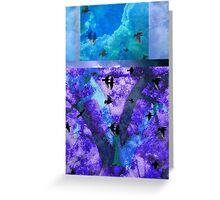 Abstracted Birds, Trees, and Sky  Greeting Card