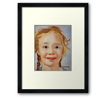 The Blue Eyed Duckling Framed Print