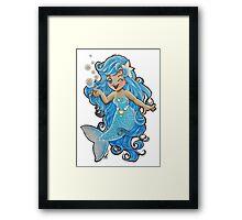 Mermaid Wink Framed Print