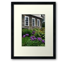 Schoolhouse in LaConner, Washington Framed Print