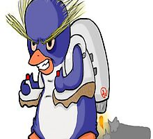 Penguin with Jet Pack by adrrianxae