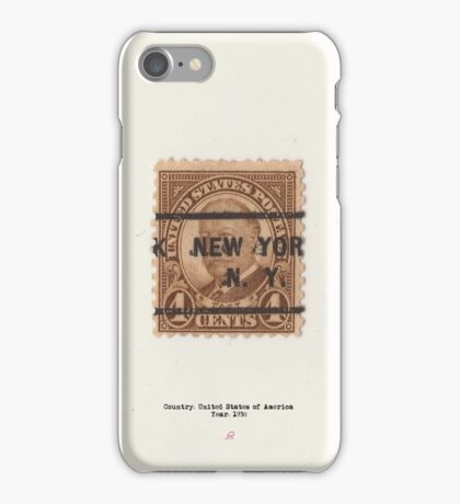 Vintage American stamp Taft iPhone Case/Skin