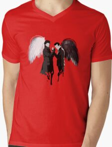 On the Side of the Angels Mens V-Neck T-Shirt