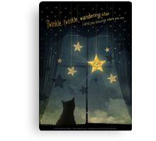 Twinkle, Twinkle Wandering Star... Canvas Print