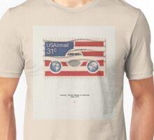 Vintage American stamp USAirmail cloth Unisex T-Shirt