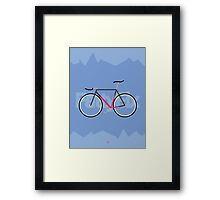 Fattyfix - fixie poster by JeppeRIngsted Framed Print