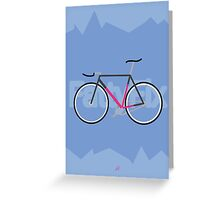Fattyfix - fixie poster by JeppeRIngsted Greeting Card