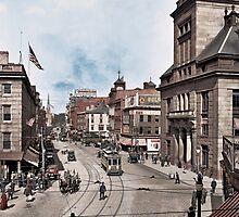 Main Street in Fall River, Massachusetts, circa 1920. by ryanurban