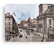 Main Street in Fall River, Massachusetts, circa 1920. Metal Print