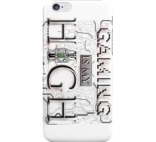 Gaming is my HIGH - White text Transparent iPhone Case/Skin