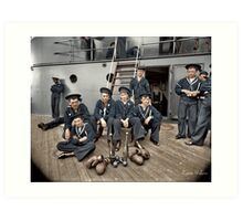 The Athletes of the U.S.S Oregon, Circa 1897 Art Print