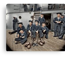 The Athletes of the U.S.S Oregon, Circa 1897 Canvas Print