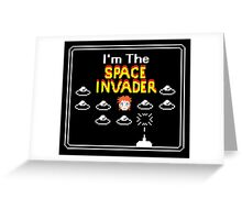 Moonage Space Invader Greeting Card