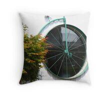 Cycle Shop Window Throw Pillow