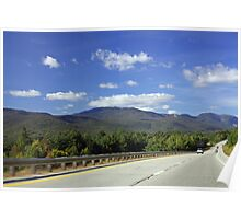 White Mountains to your left Poster