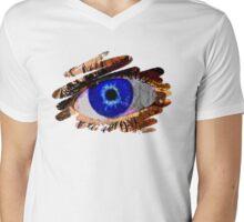 Peek A Boo Mens V-Neck T-Shirt