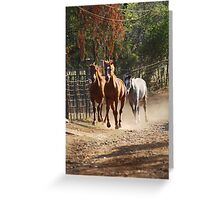 Charging Home Greeting Card