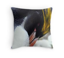 Macaroni Penguin Throw Pillow