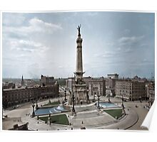 Soldiers' and Sailors' Monument, Indianapolis, Indiana, circa 1907. Poster