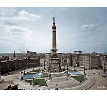 Soldiers' and Sailors' Monument, Indianapolis, Indiana, circa 1907. Photographic Print