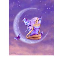 Lavender Moon Butterfly Fairy Photographic Print