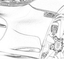 Porsche Cayman Detail Sticker