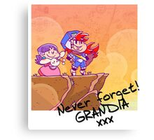 Never forget Grandia! Canvas Print