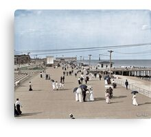 Boardwalk at Asbury Park on The Jersey Shore circa 1905.  Canvas Print