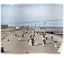 Boardwalk at Asbury Park on The Jersey Shore circa 1905.  Poster