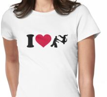I love Aikido Womens Fitted T-Shirt
