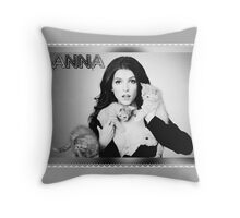 Anna Kendrick Kittens Poster Throw Pillow