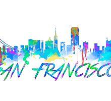 San Francisco Skyline in water colour by jackelstub