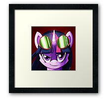 Twilight Sparkle Goggles Framed Print