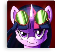 Twilight Sparkle Goggles Canvas Print