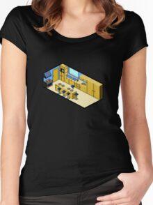 KITCHEN PIXEL ART Women's Fitted Scoop T-Shirt