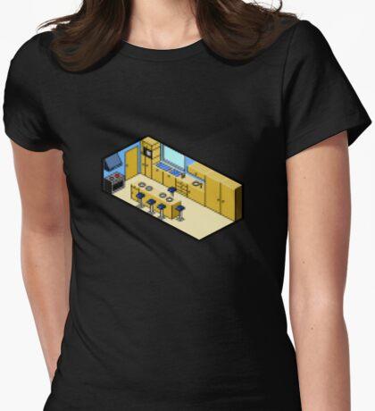 KITCHEN PIXEL ART Womens Fitted T-Shirt