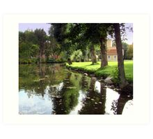 Peaceful River Bank Art Print