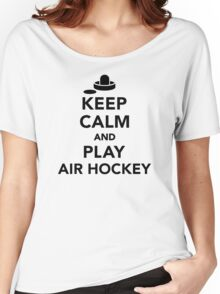 Keep calm and play Air hockey Women's Relaxed Fit T-Shirt