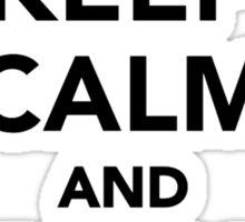 Keep calm and play Air hockey Sticker
