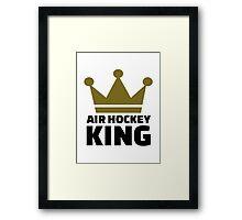 Air hockey King Framed Print