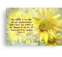 Lord is my light Canvas Print