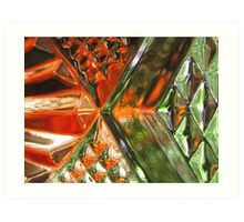 Orange & Green can be Seen Art Print