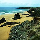 Bedruthan Steps by Mark Wilson