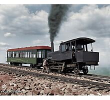 Cog Train Railway, Pike's Peak, Colorado circa 1900 Photographic Print