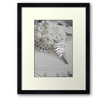 Wedding Cake detail Framed Print