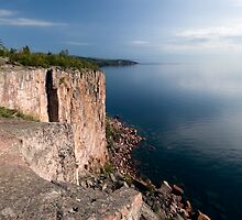 Palisade Head, North Shore, Lake Superior. by Michael Treloar