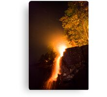 Waterfalls on Fire Canvas Print