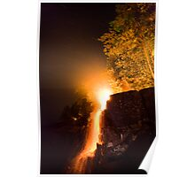 Waterfalls on Fire Poster